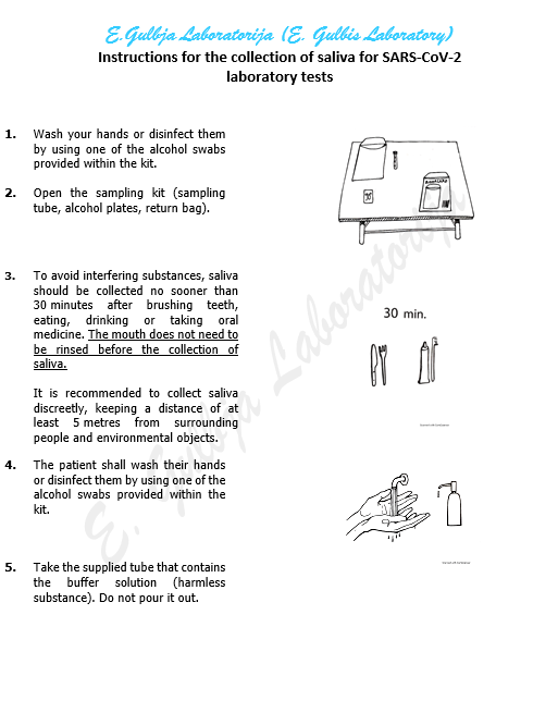 Instructions for use for saliva collection