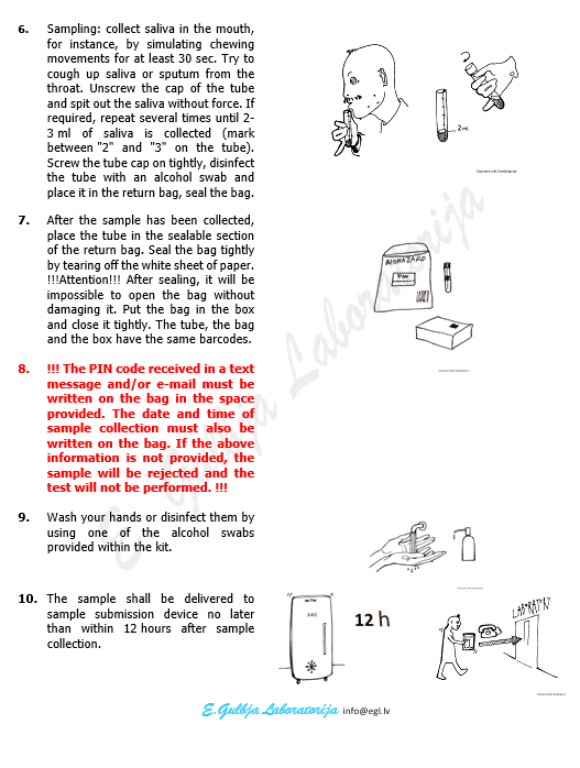 Instructions for use for saliva collection 2