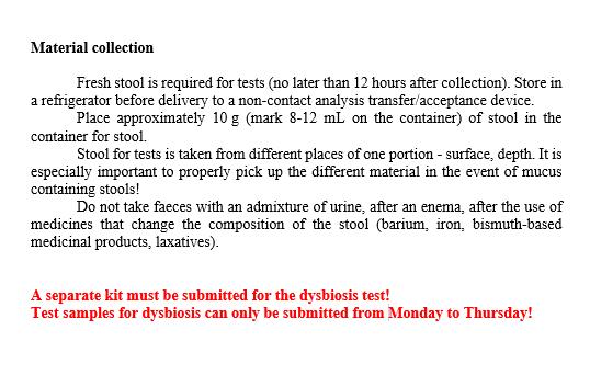 Fēču savākšanas instrukcija
